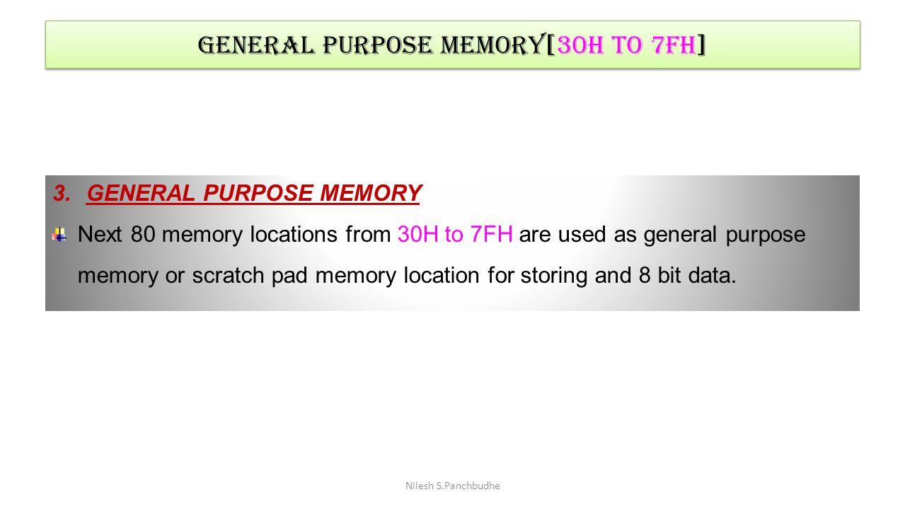 General purpose memory[30h to 7fh]